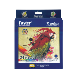 Faster 24 Premium Colour Pencils