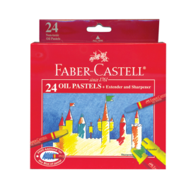 Faber-Castell 24 Watercolour Pencils + Brush, Sharpener
