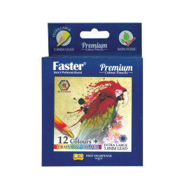 Faster 12 Premium Colour Pencils