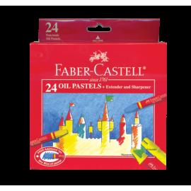 Faber-Castell 24 Watercolour Pencils + Brush, Sharpener
